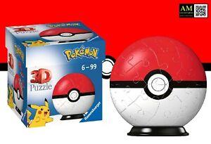 Ravensburger 3D Puzzle - Pokemon Pokeball Classic - 54 Pieces - New