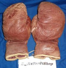 Vintage Original 710-8 Benlee Leather Boxing Gloves Laced Up Rare Used