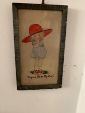 """Mabel Lucie Attwell Original Signed Watercolour """"Anyone Seen My Man?"""""""