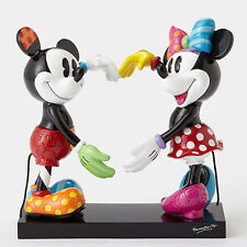 Disney Britto Mickey Mouse & Minnie Mouse Heart Figure New 2016 4055228