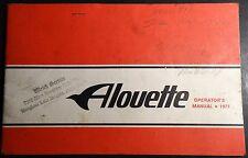 RARE 1971 ALOUETTE SNOWMOBILE OWNERS OPERATORS MANUAL  (709)