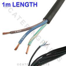 1 x mètre de 3 Cœurs 2.5mm H07RNF caoutchouc noir secteur Flex Câble 3G 2.5 pour