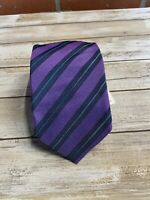 NWT Eton Silk Tie Purple Blue Made in Italy