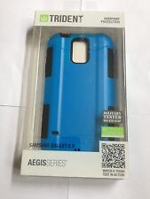 OEM Trident Aegis Blue Black Case Cover & LCD Protector Samsung Galaxy S5 i9600