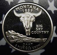 2007-S Montana Gem DCAM Clad Proof State Quarter Stunning Coin  DUTCH AUCTION