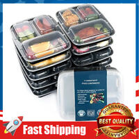 3 Compartment Meal Prep Food Storage Reusable Lunch Containers,3 Pack Bentobox