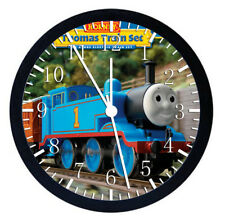 Thomas Train Black Frame Wall Clock Nice For Decor or Gifts W68