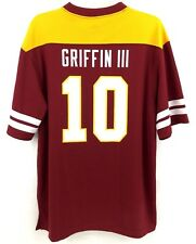ROBERT GRIFFIN RG3 WASHINGTON REDSKINS MAJESTIC NFL FOOTBALL JERSEY SHIRT SIZE L