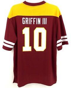 Robert Griffin Men's Jersey Shirt RG3 Washington Redskins Majestic Football Sz L