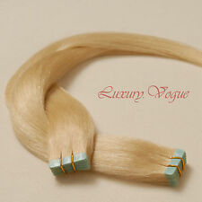 40Pcs Tape-in Hair Extensions 100% Human Hair Remy A+ #613 (Platinum Blond)