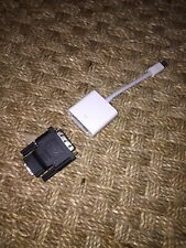 Apple Thunderbolt Mini DisplayPort to DVI Female Adapter A1305 And HDMI Adapter