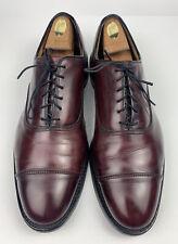 Allen Edmonds Park Avenue Cap Toe Oxford Burgundy Leather Men Size 11.5 (RP:$395