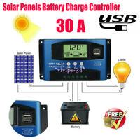 MPPT 30A Solar Laderegler 12V 24V Photovoltaik Solarmodul Solarpanel Controller