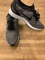 Nike Air Zoom Mariah Flyknit Racer Black White 918264-015 Men's 9, Women's 10.5