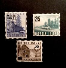 Norfolk Islands SG37/9 Mounted Mint 1960 Surcharges Set