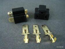 H4 9003 Headlight MALE Wire Harness plug Adaptor + Terminal #AUgtn x 2 set