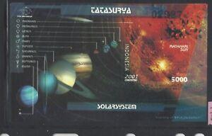 Indonesia #MiBl165 MNH S/S CV€2.50 2001 Sun Solar System [1928]