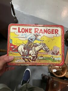 THE LONE RANGER COLLECTOR METAL LUNCH BOX 1995 Vintage no thermos
