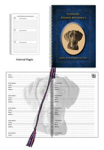 Great Dane Dog, Telephone Address Book & Dates section, choice of 3 colours Gift