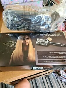 BaByliss Heated Smoothing Brush Diamond Radiance Straightening For All Hair 2440
