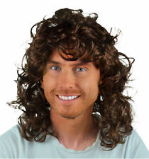 BROWN CURLY MEN'S FANCY DRESS WIG. UK NEXT DAY DISPATCH