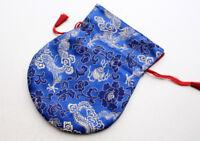 Colorful Silk Brocade Drawstring Mala Bag