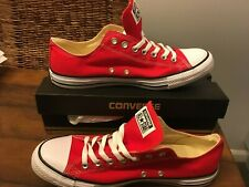 Converse Chuck Taylor All Stars Ox Red Canvas Trainers New Sz 10.5 EU 44.5 Mens