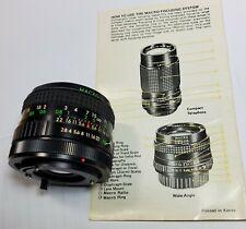 Albinar ADG 28mm F2.8 Macro Focus to Fit Canon FD Prime Lens SLR Cameras
