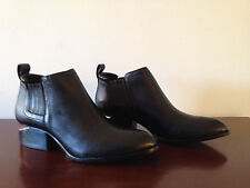 Alexander Wang Kori Black Leather Ankle Boots Rose Gold Size 36