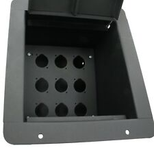 MCS Pro Audio Recessed Stage Floor Pocket Box Blank Insert Plate w/ 9 D cutouts