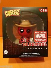 Funko Pop! Marvel Collectors Corps Exclusive Cowboy Deadpool #88 Dorbz Figure CZ