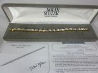 "Nolan Miller Steppin Out Baguette Bracelet Gold Tone 7"""