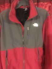 The North Face Men's Denali Fleece Jacket Red/ Gray Polartec Full Zip Coat Small