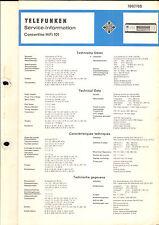 Telefunken Service Manual für Concertino 101