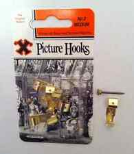 'X' Medium 4 Picture Hanging Hooks (No 2) With Brass head pins ~Best Quality~