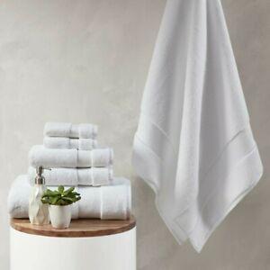 Luxury 6pc White 100% Cotton  Towel Set - 1000gsm