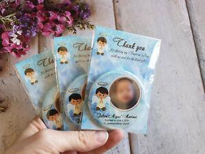 10/20pcs Baptism party favors Christening favors Keepsake 58mm photo magnets