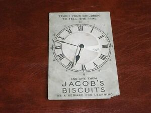 ORIGINAL  ADVERTISING MECHANICAL NOVELTY POSTCARD - JACOB'S BISCUITS, CLOCK.