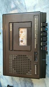 Marantz Superscope CD-330. Transportable cassette deck with AC lead and manual.