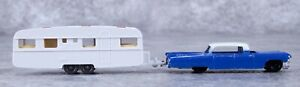 Vintage TootsieToy Cadillac 62 Sedan With Utility Trailer Wiking Of Germany