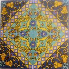 Piastrelle 20x20 Decorate A Mano ceramica Vietri 1 Mq.Consegna 10 Giorni