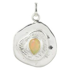 Jaipur Handcrafted Oxidized Silver Ethiopian Opal Pendant For Girls