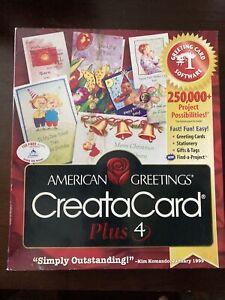 American Greetings ~ Creatacard ~ PLUS 4 ~ CD-ROM Windows 95/98