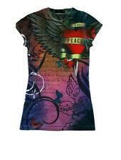 Girls Love and Peace Juniors Sublimation Fashion Shirt Size Medium
