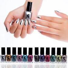 6ML Mirror Chrome Effect Nail Art Polish Varnish Pigment & Base Coat Beauty Tips