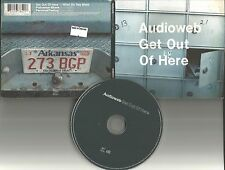 AUDIOWEB Get out of here UNRELEASED & 2 ACOUSTIC EUROPE TRX CD Single USA SELLER
