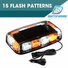 36LED White/Amber Emergency Warning Flash Roof Top LED Strobe Light Bar 12V-24V