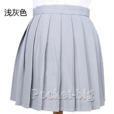 Girls School Uniform Zip Front Pinafore Box Pleat Skirt Dress 2-16 Years GP3030