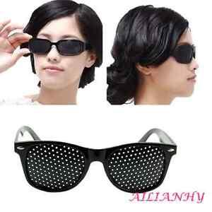 1X Unisex Anti-fatigue Improver Eyesight Care Stenopeic Pinhole Glasses RELAX HY