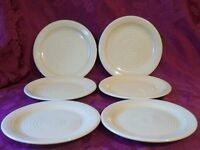 "Lot of 6 Home Trends - HTS16 (Yellow) - 8"" Salad/Dessert Plates"